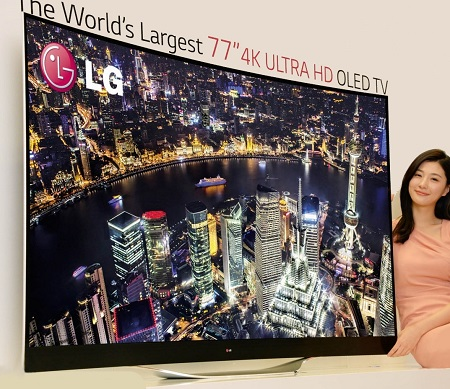 LG 77-INCH 4K ULTRA HD OLED TV