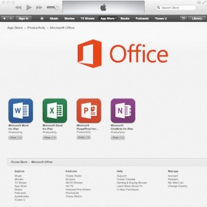 Aplicaciones de Office para el iPad superan expectativas.