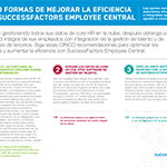 CINCO FORMAS DE MEJORAR LA EFICIENCIA CON SUCCESSFACTORS EMPLOYEE CENTRAL