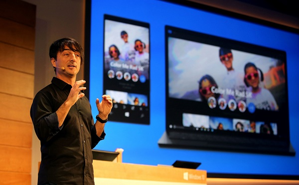 Joe Belfiore presentando Windows 10