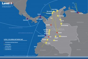 LEVEL 3 - COLOMBIA - NETWORK MAP