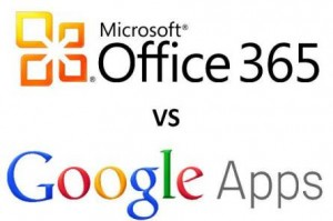 Una comparación entre Office 365 y Google Apps.